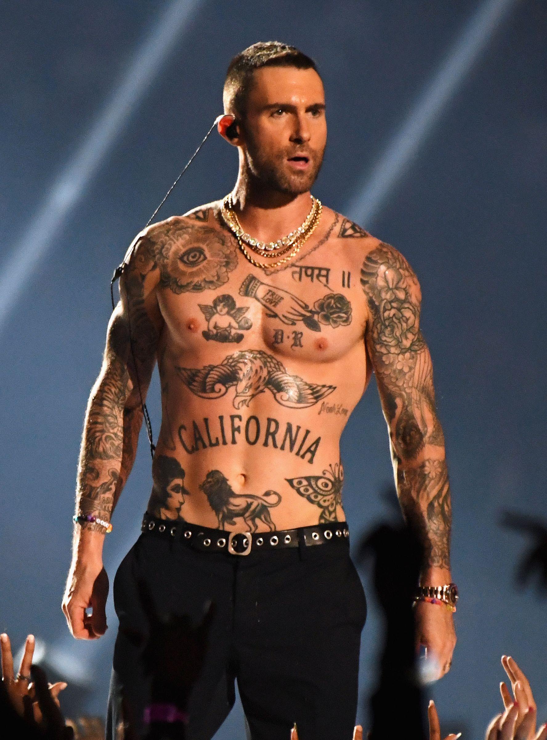 adam levine tattoos - HD1741×2000