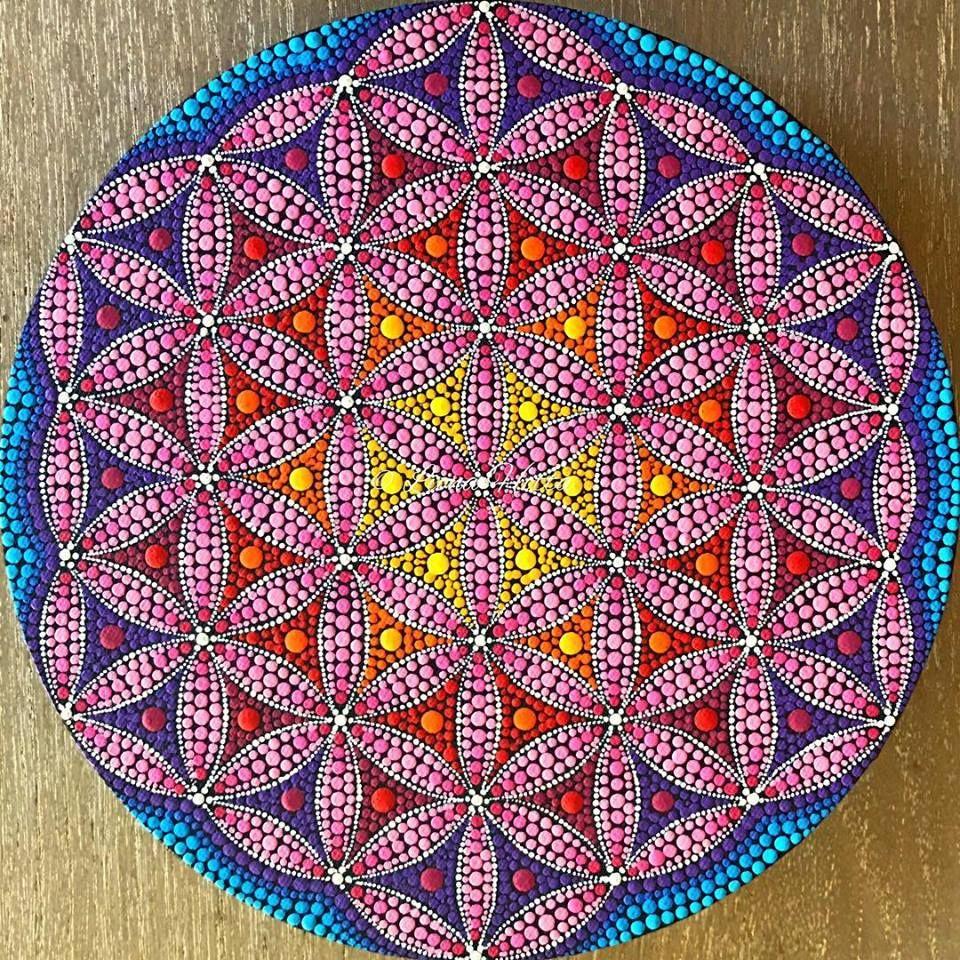 Puntillismo Mandala Dots Dot Painting Dot Art Painting