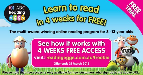 4 Free Weeks Of Readingeggs Online Reading Programs Abc Reading Learn To Read