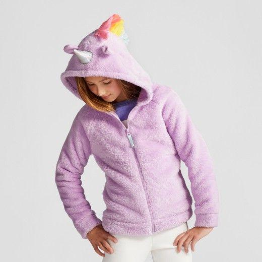 Girls Cozy Unicorn Hoodie