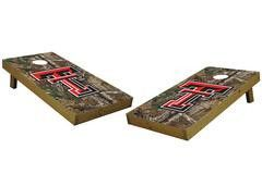 Texas Tech Red Raiders Single Cornhole Board - Realtree Xtra® Camo
