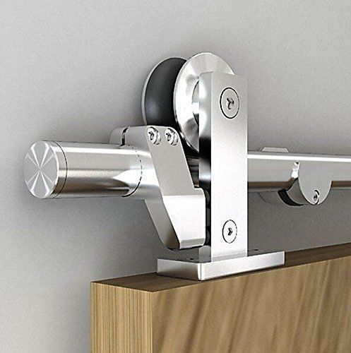 Easy Install Top Mount Barn Door Hardware Stainless Steel Sliding Barn  Track Kit