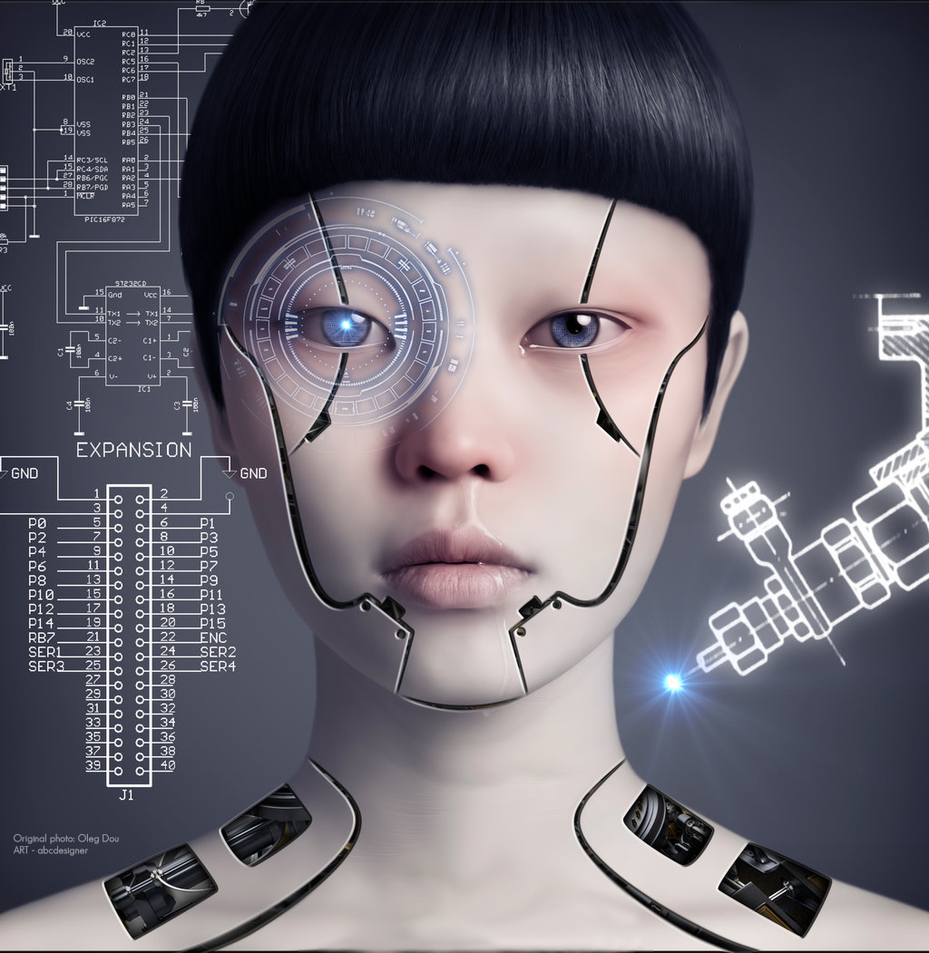35 Realistic Android Cyborg Girls Photo Manipulations