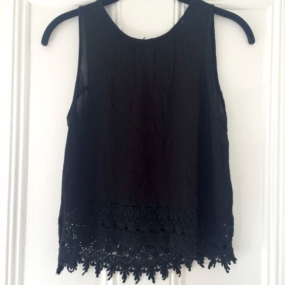 Chloe K Top This top has a beautiful crochet trim at the bottom. Perfect condition. Chloe K Tops Tank Tops