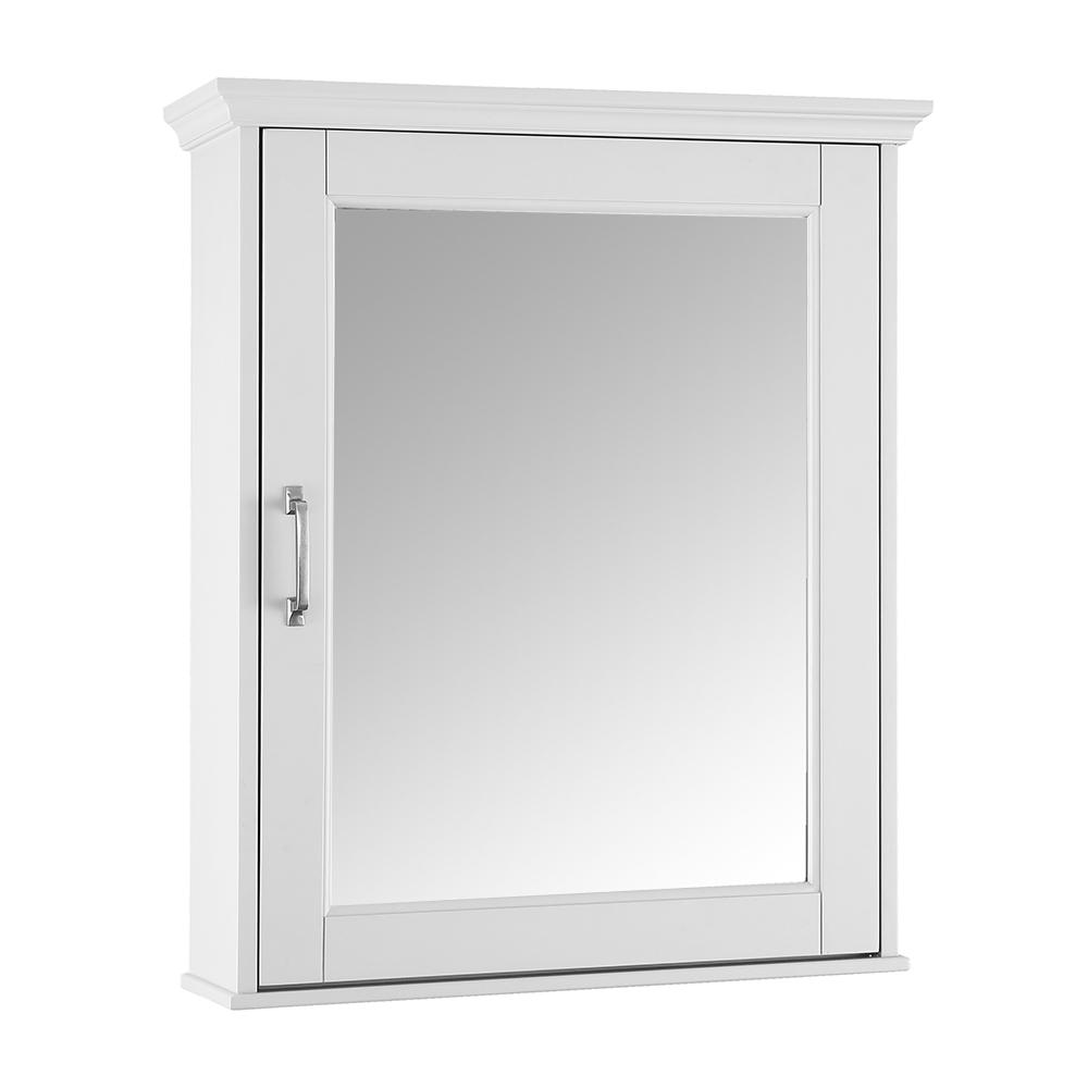 Home Decorators Collection Ashburn 23 In W X 28 In H X 8 In D Framed Surface Mount Bathroom Medicine Cabinet In White Aswc2328 Medicine Cabinet Mirror Surface