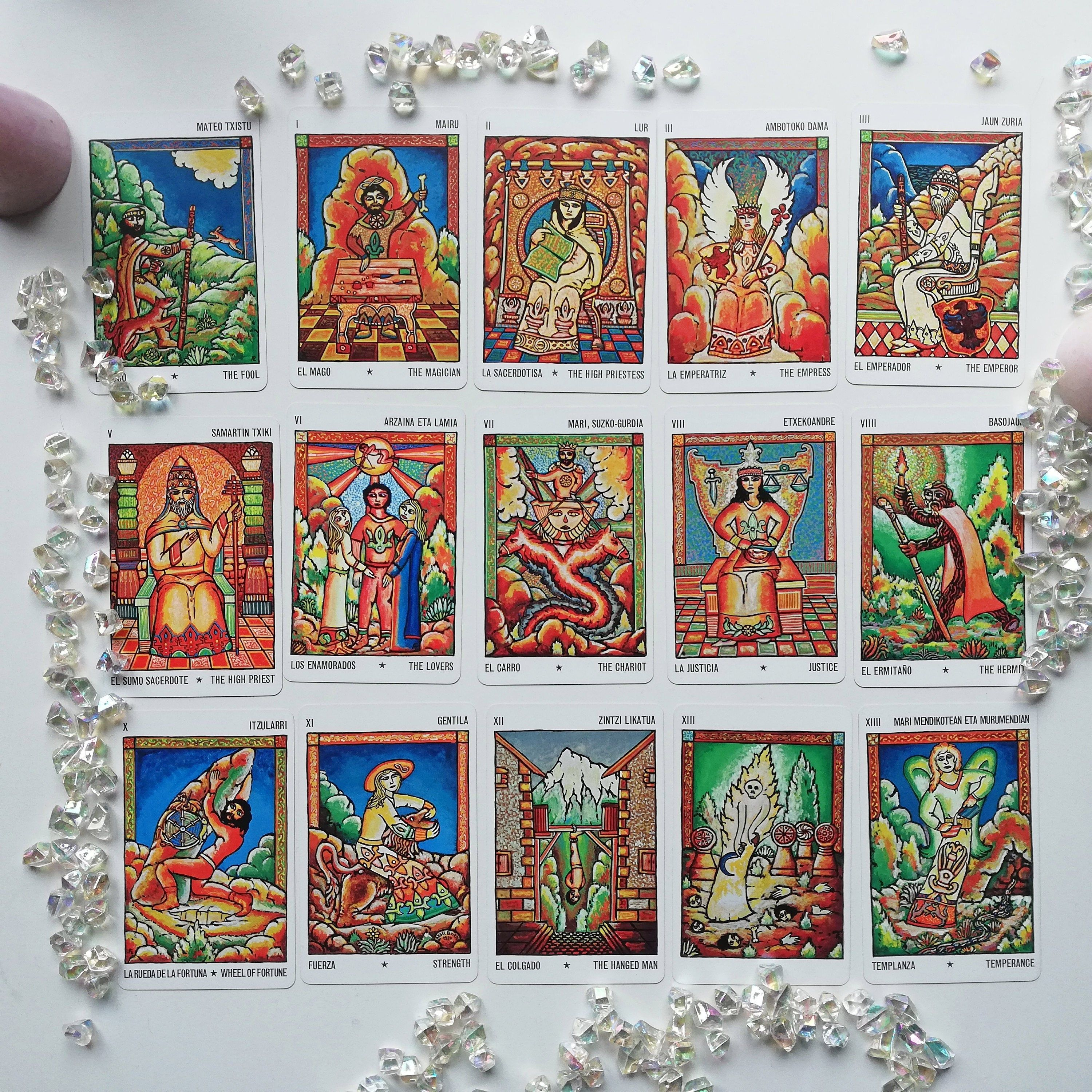 Reserved for vicky rare 1980s basque mythical tarot cards