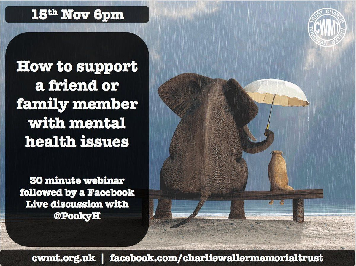 How to support a friend or family member with mental heath issues - online learning session