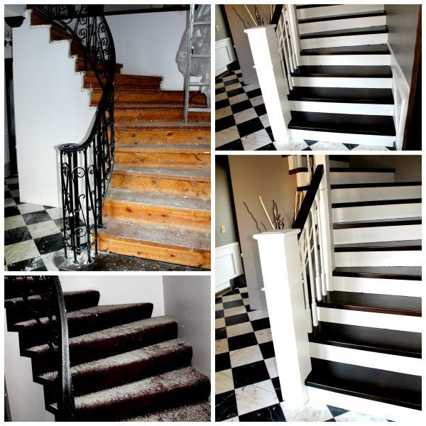 Best Curved Staircase Remodel With New Handrail Vías 400 x 300