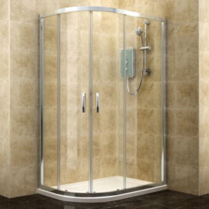 Cooke Amp Lewis Deluvio Offset Quadrant Shower Enclosure Amp Tray Lh W 1200mm D Quadrant Shower Enclosures Quadrant Shower Rectangular Shower Enclosures