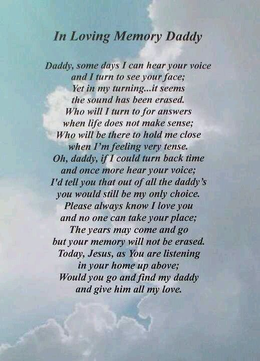 Jesus, will you go and find my Daddy and give him all my ...