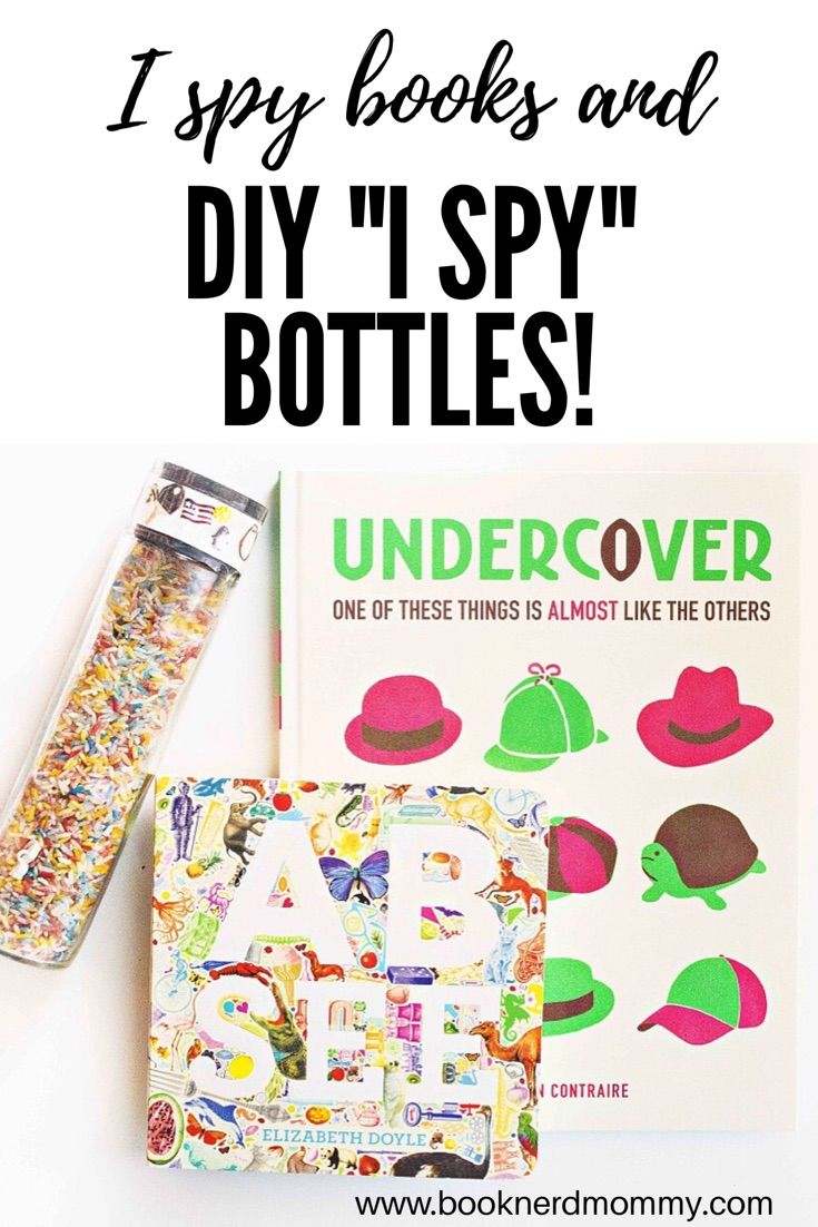 A B See Undercover And I Spy Bottle Tutorial Book Crafts