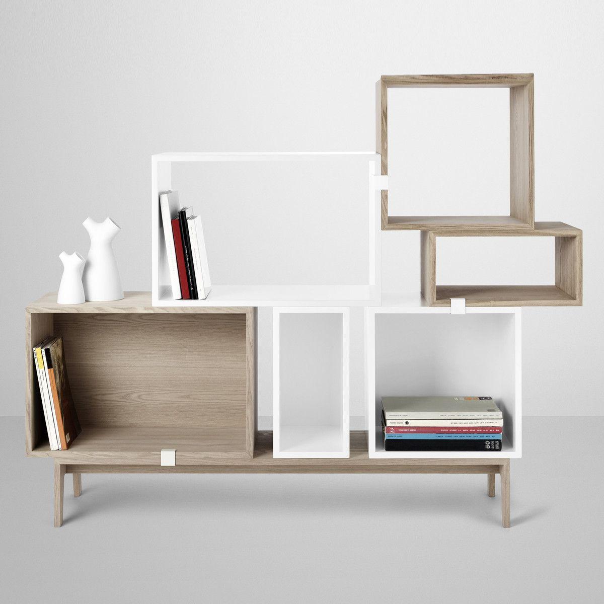 Mini Stacked Shelf System by Muuto | Box regale, Regalsystem