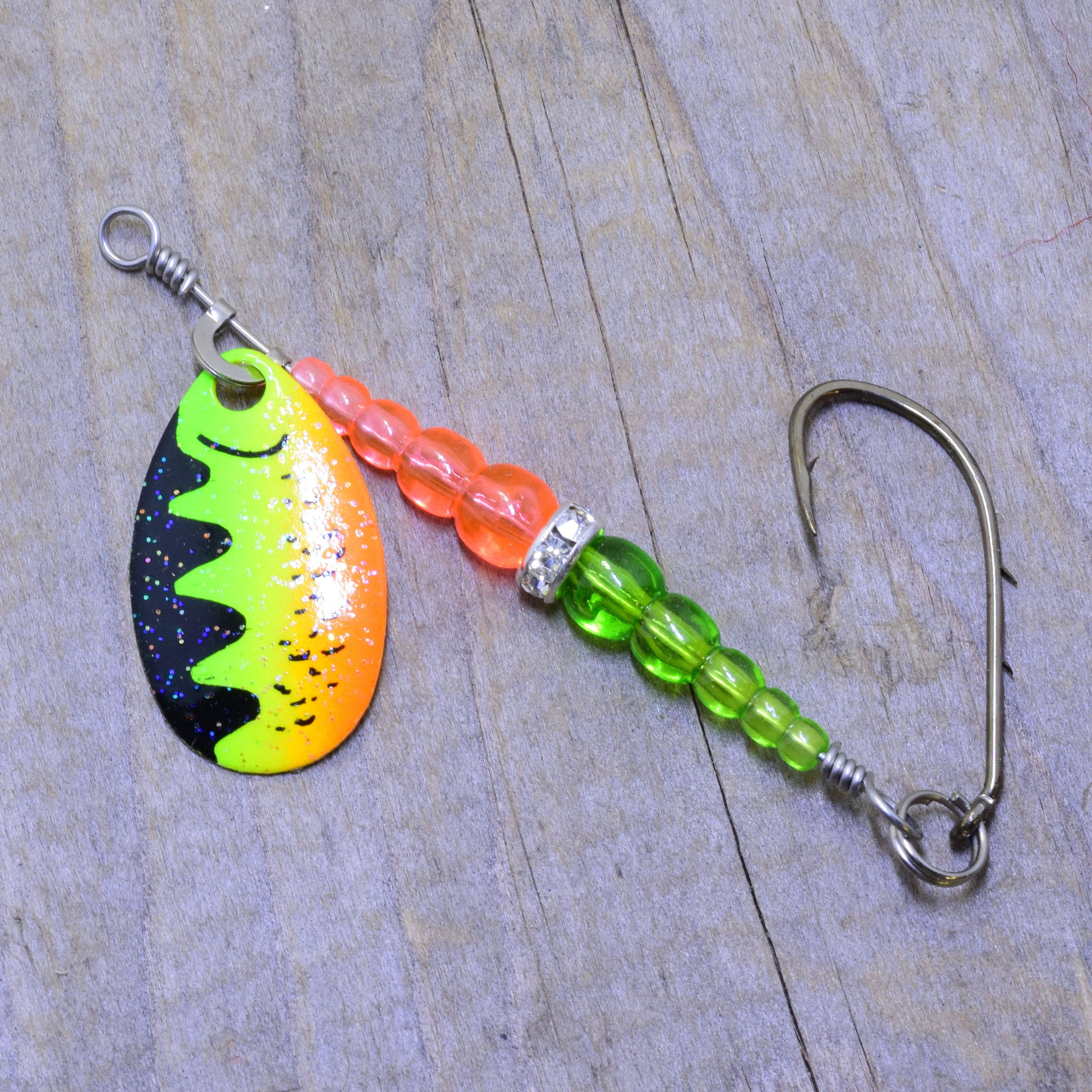 10 JIG SPINNERS SIZE 0 ORANGE//YELLOW FISHING LURE SPINNER COLORADO BLADE