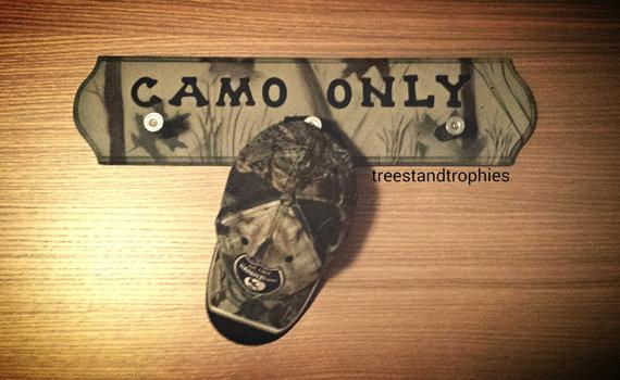 Custom Camo Shotgun Shell Hat Rack/ Coat Rack/ Towel Rack/ Camo Shot Shell Inn Keeper Wall Decor Hand Made in ANY COLOR and Custom Text!