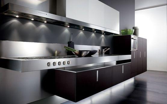 Contemporáneo Las Ideas Contemporáneas De Diseño De Cocina Negro ...