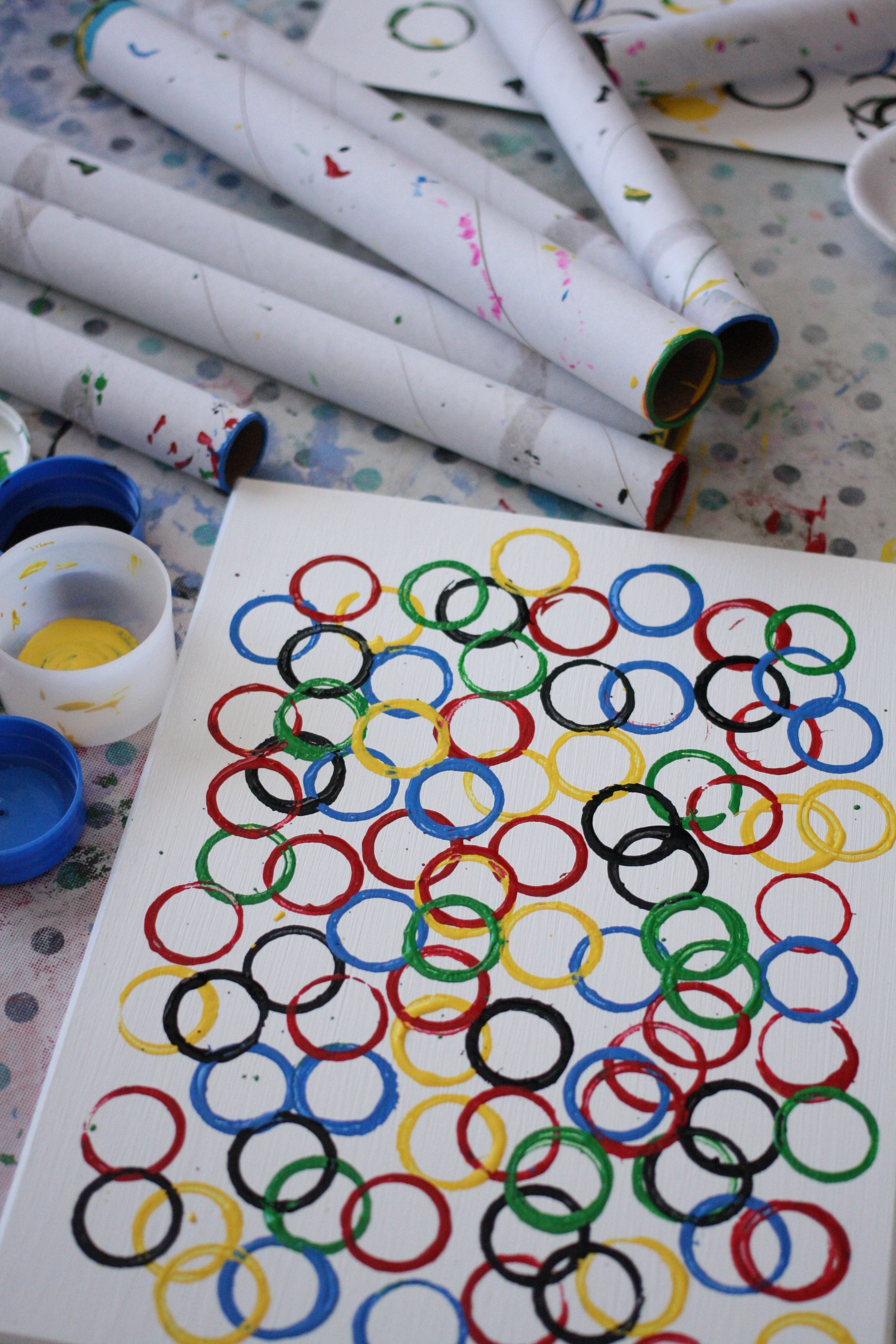 Olympic Ring Art For Preschoolers