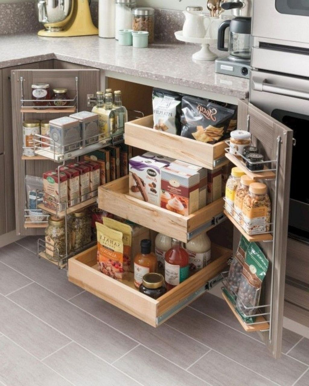 The Best Kitchen Organization Ideas46 Kitchen Cabinet Organization Layout Kitchen Design Small Small Kitchen Storage