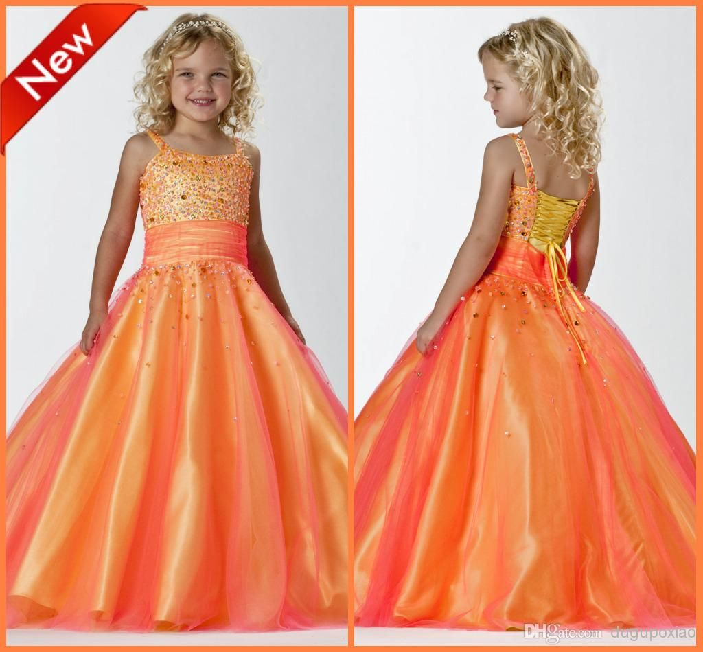 New pretty orange flower girls dresses a line spaghetti ruched new pretty orange flower girls dresses a line spaghetti flower girls dresses buy wholesale on line direct from china izmirmasajfo