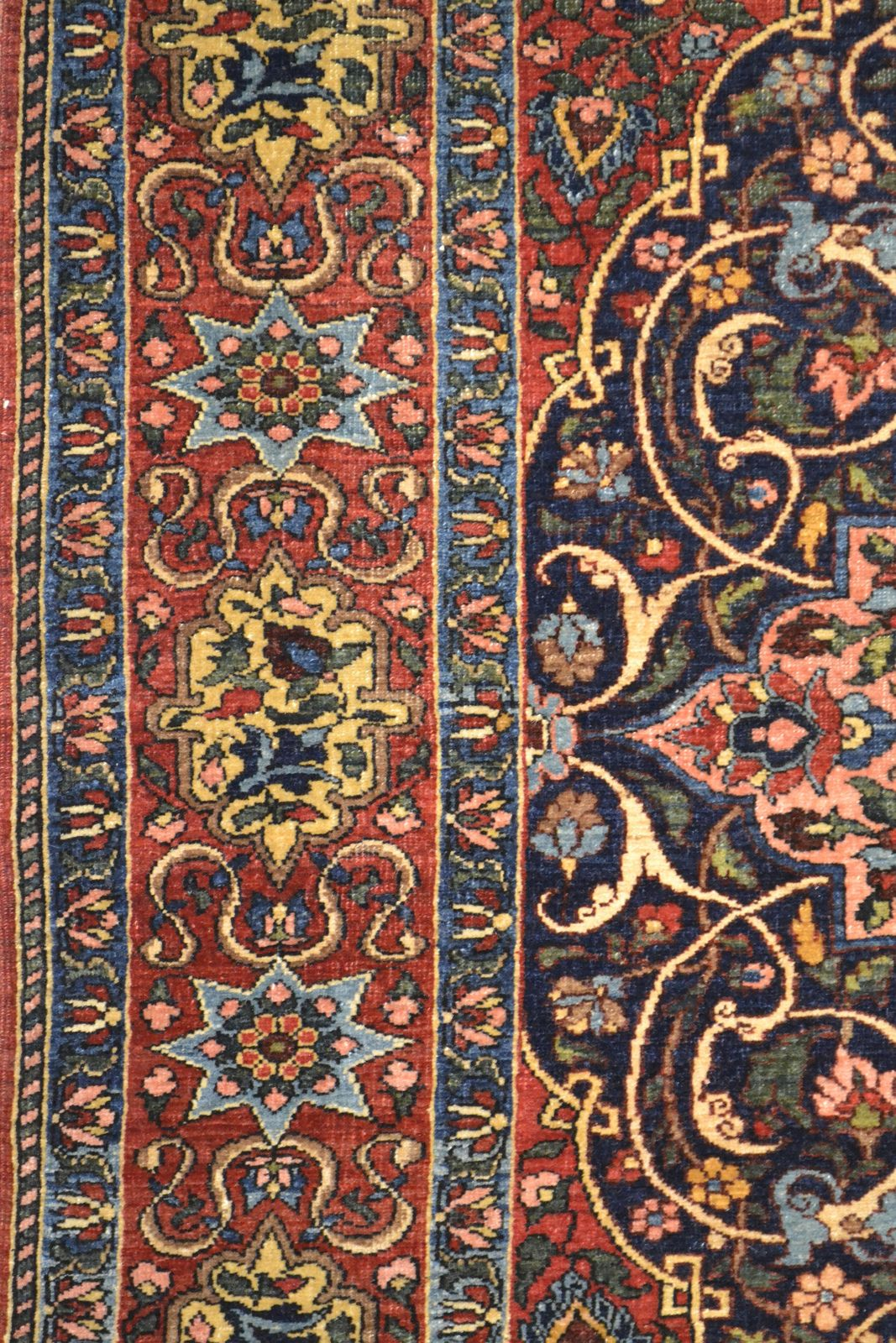 Antique Isfahan Mobarakeh Wool Persian Rug Item Bg 3115 Rugs Persian Rug Designs Modern Area Rugs