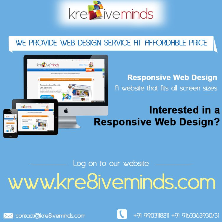 Responsive Web Design A Website That Fits All Screen Sizes With Images Web Design Web Design Services Responsive Web Design