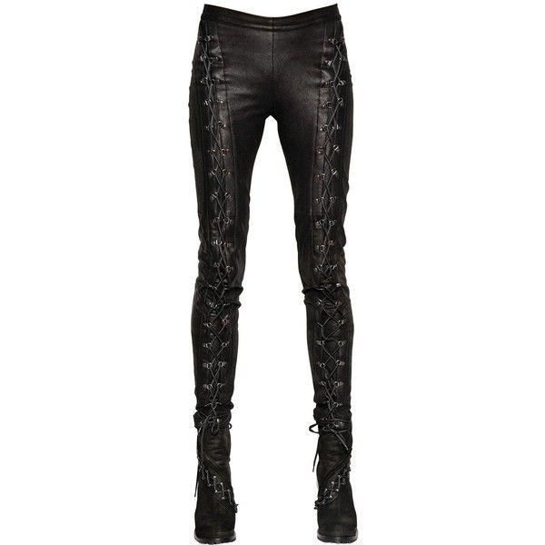 9045db98d49c A.F.VANDEVORST Lace-Up Nappa Leather Punk Pants ( 1