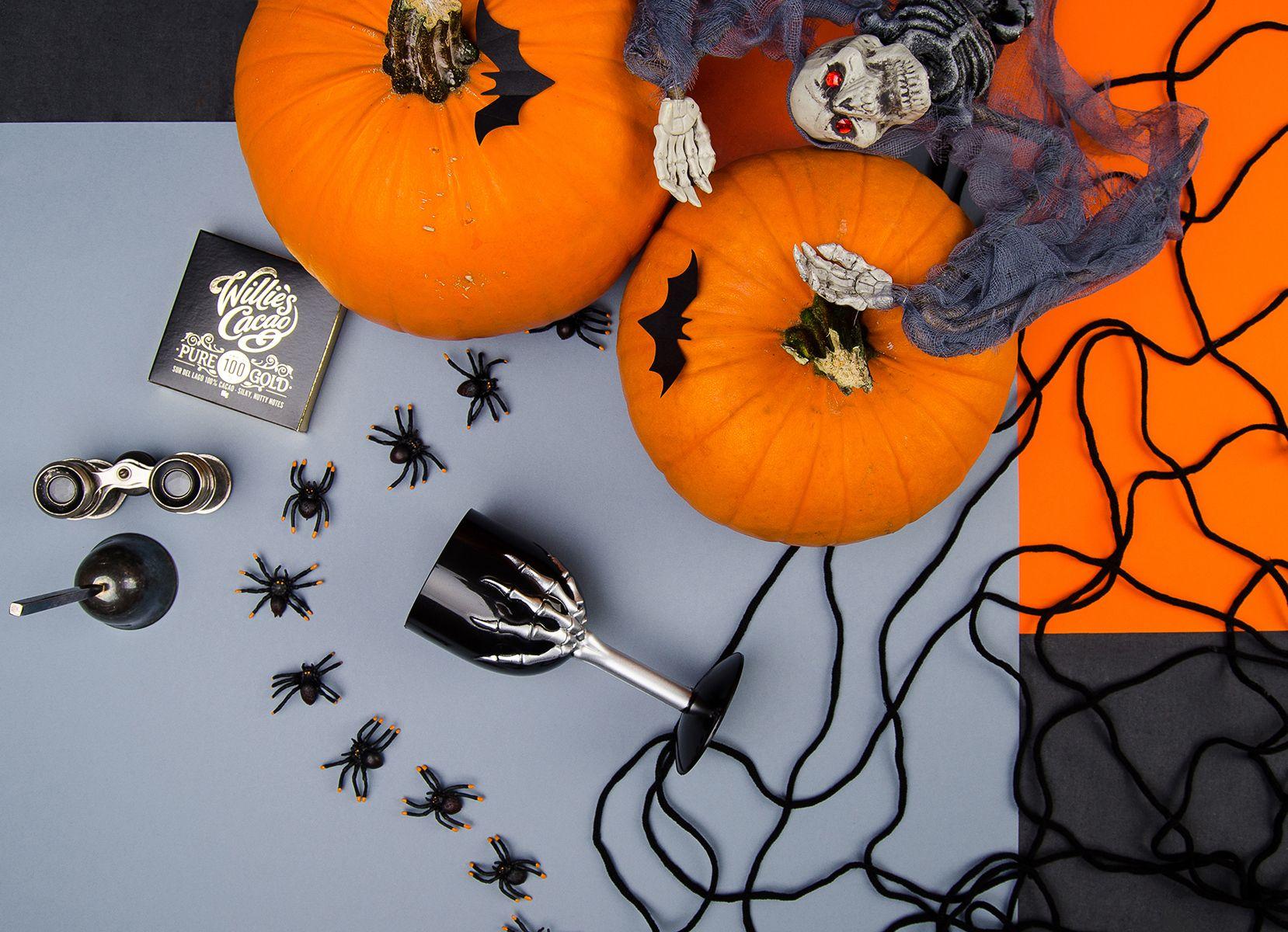 Halloween idea,partybox.pldekoracjepająkidyniakostucha