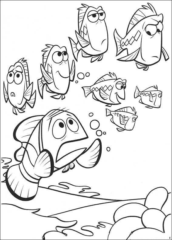 Fargelegging Oppdrag Nemo. Tegninger 6