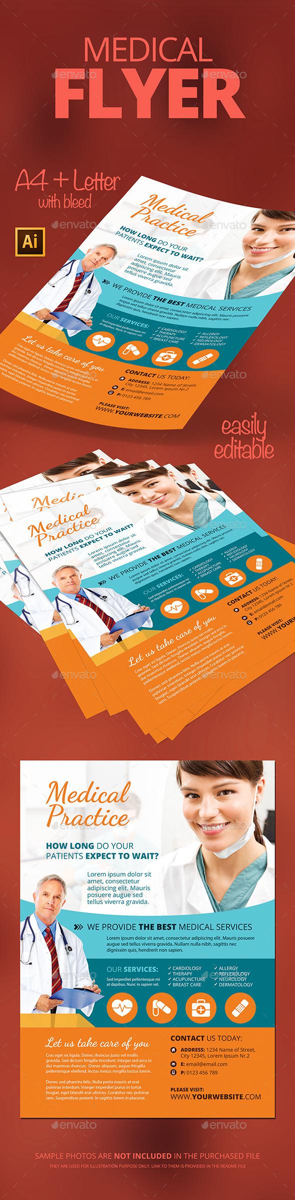 medical flyer psd template design download http graphicriver net