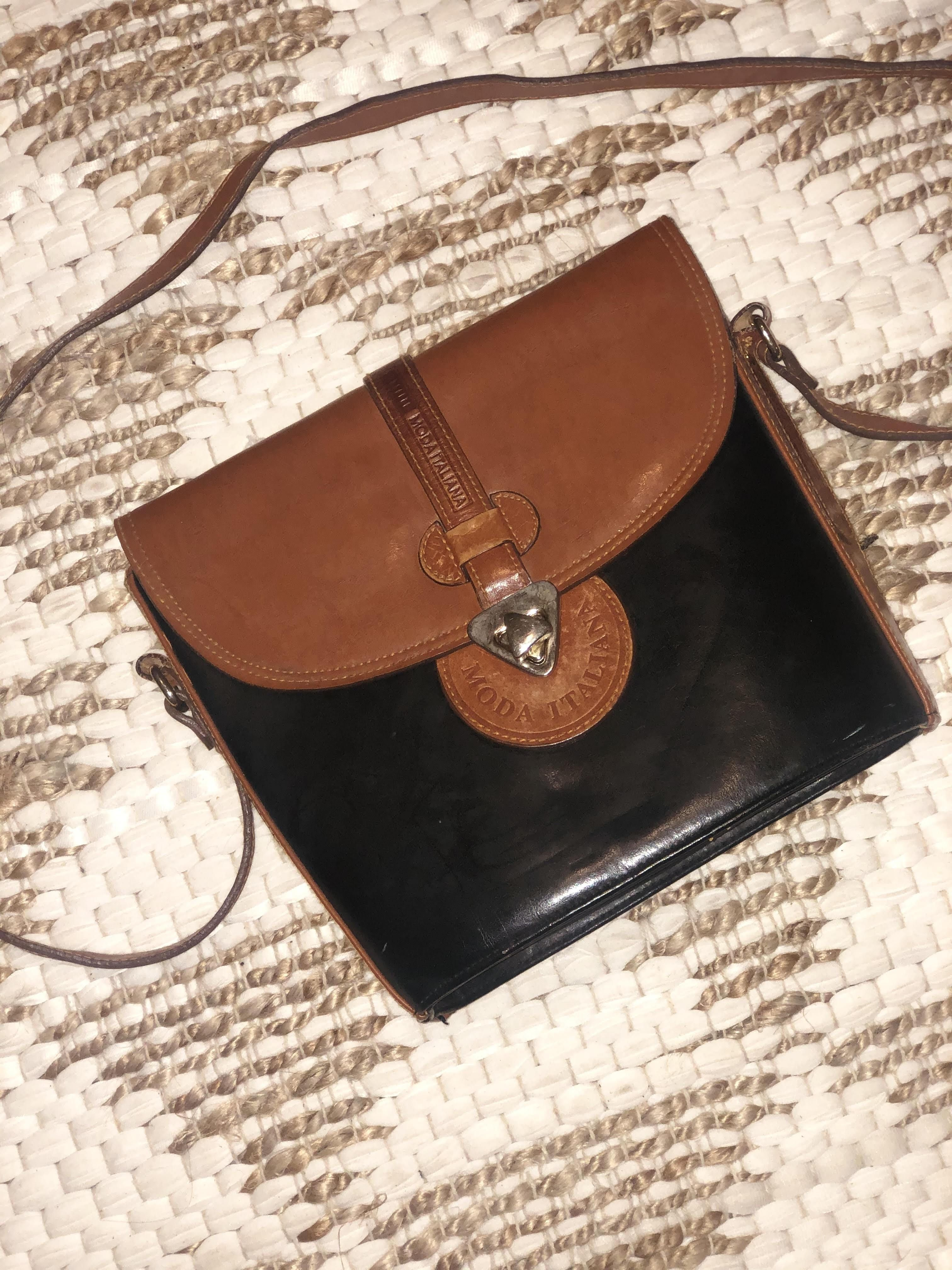 Moda Italia Bucket Purse shoulder bag Med. leather