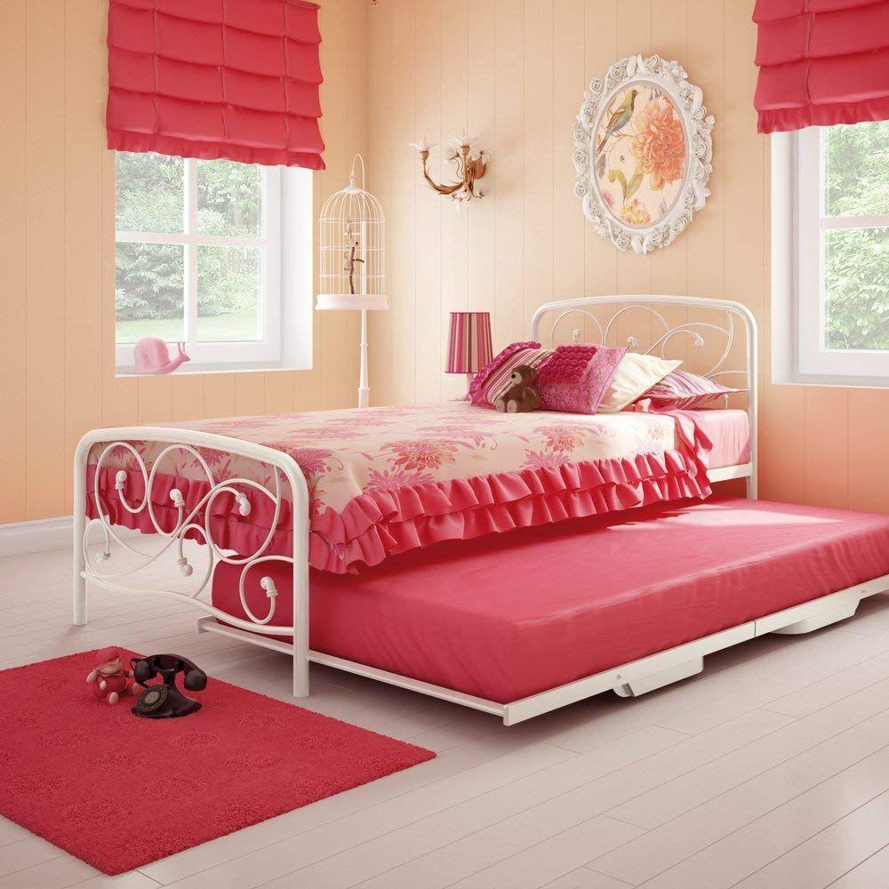 Weißes Einzelbett Mit Ausziehbarem Bett mit stauraum