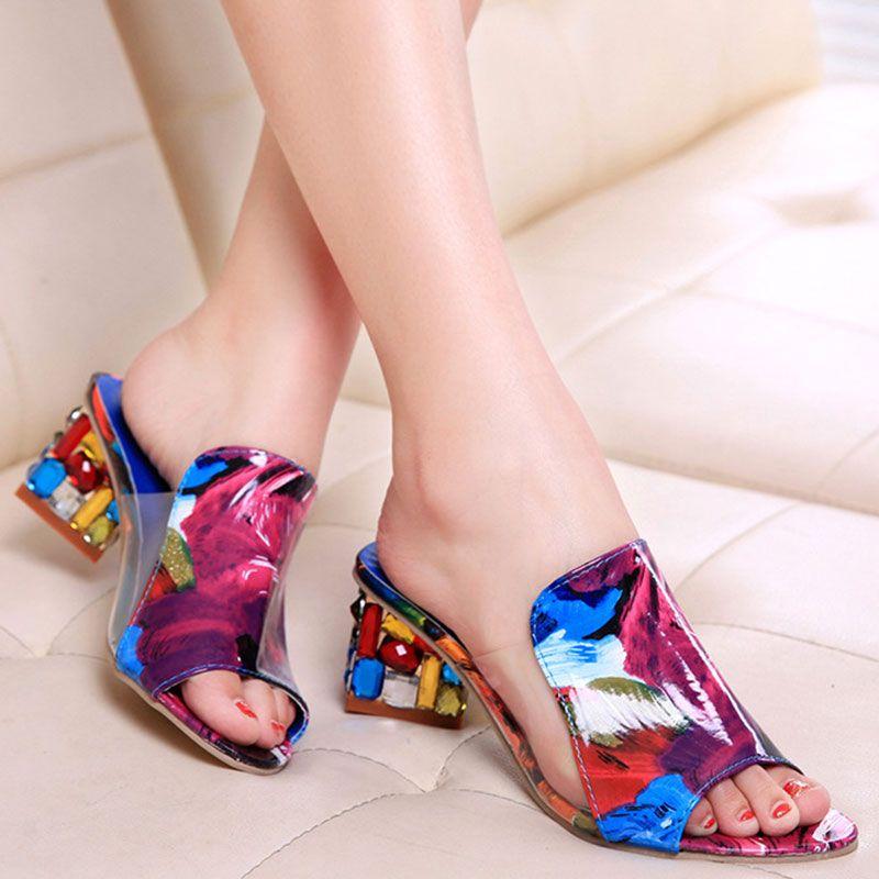 Summer Shoes Women Sandals Ladies Crystals Rhinestone Beach
