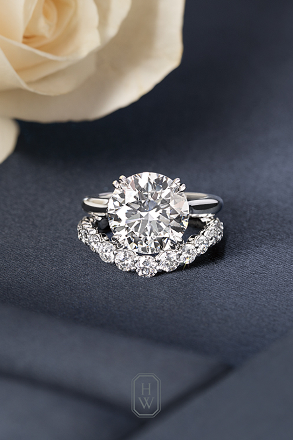 We Now Pronounce You Husband And Wife Let The Journey Begin With A Harry Wi Harry Winston Engagement Rings Harry Winston Wedding Rings Beautiful Wedding Rings