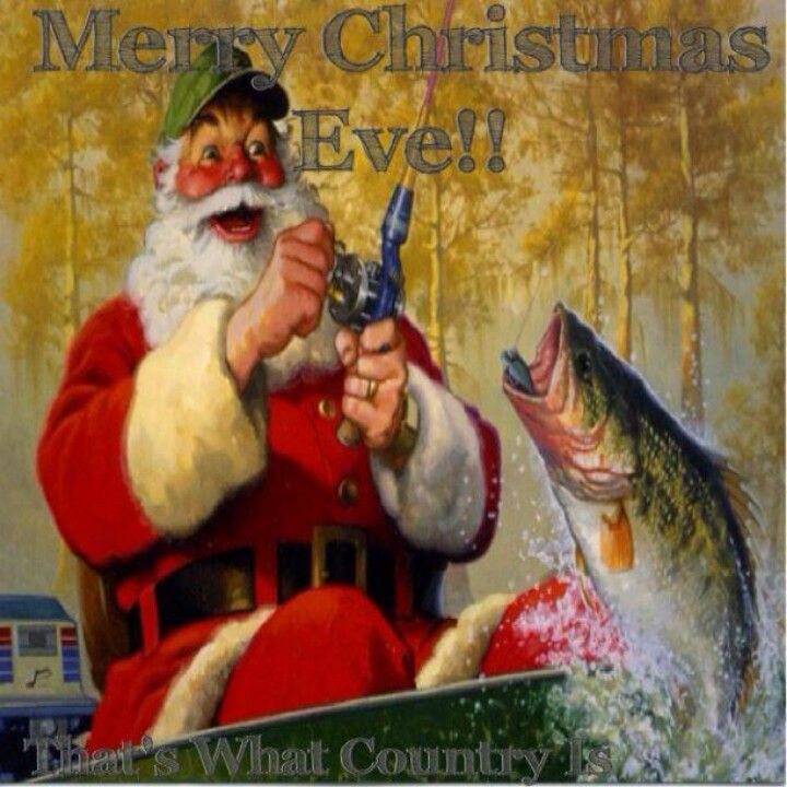 Love this old one. Santa has a heart if he loves fishing. Fishing ♥ http://village-properties.com, 1-800-SUNRIVER.