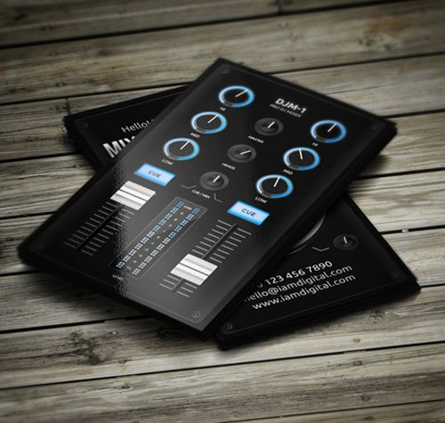 Digital dj business card businesscards music psdtemplates amazing dj business cards psd templates design flashek Image collections