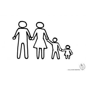 Disegno Di Famiglia Unita Da Colorare Disegni Colori Disegni