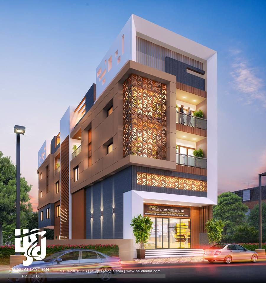 Image May Contain Sky Tree And Outdoor Commercial Design Exterior Small House Elevation Design Apartments Exterior
