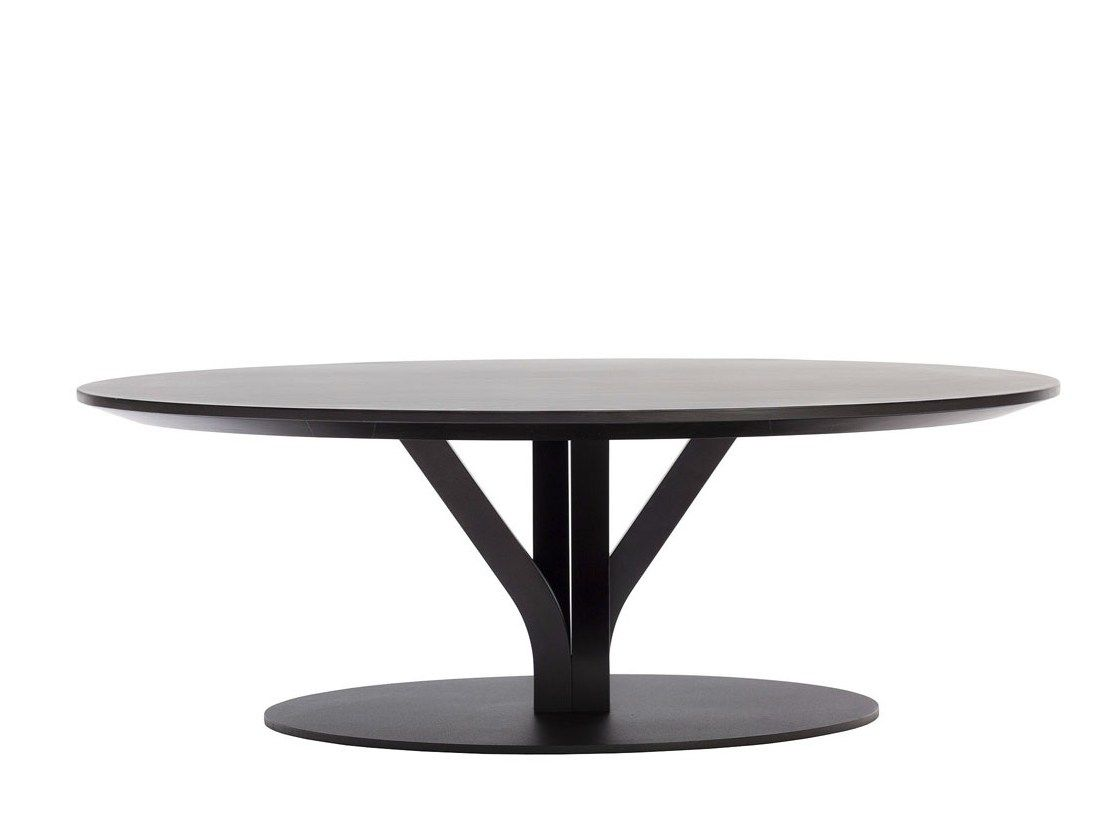 Bloom Coffee Table By Ton Metal Coffee Table Low Coffee Table Round Coffee Table [ 838 x 1114 Pixel ]