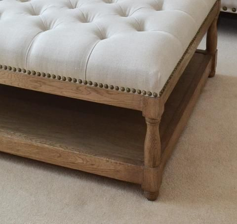 Ottoman Coffee Table | Oatmeal Linen | La Residence Interiors ...