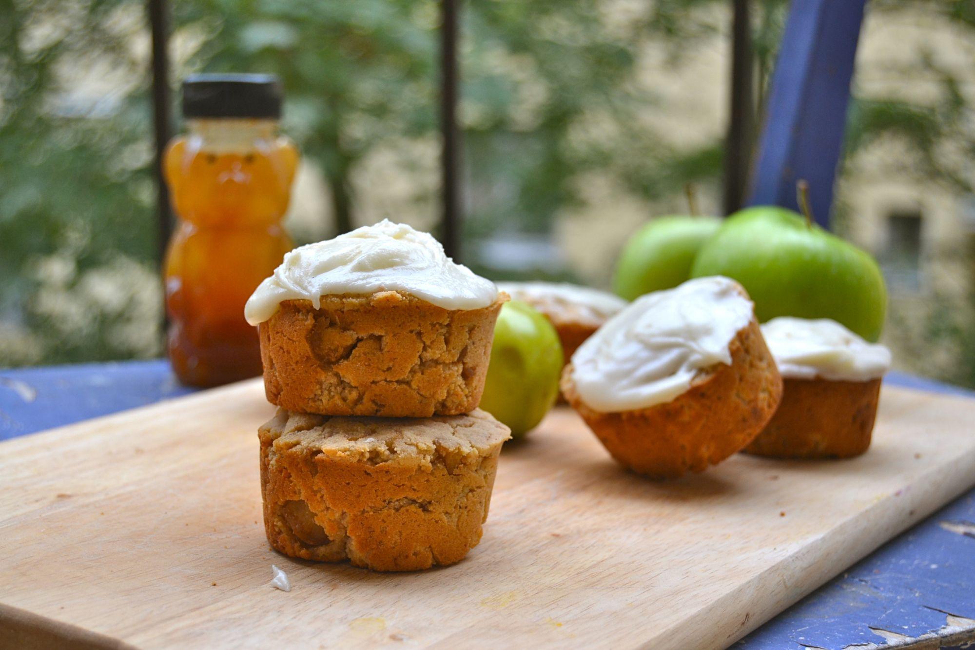 Gluten-free apple muffins.