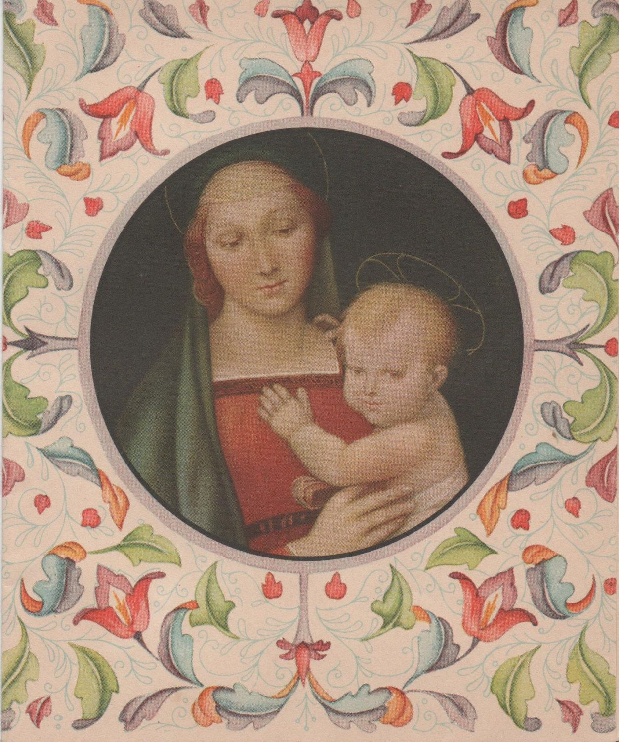 Used Christmas Card, c1950s, Madonna and Child, good shape by ...