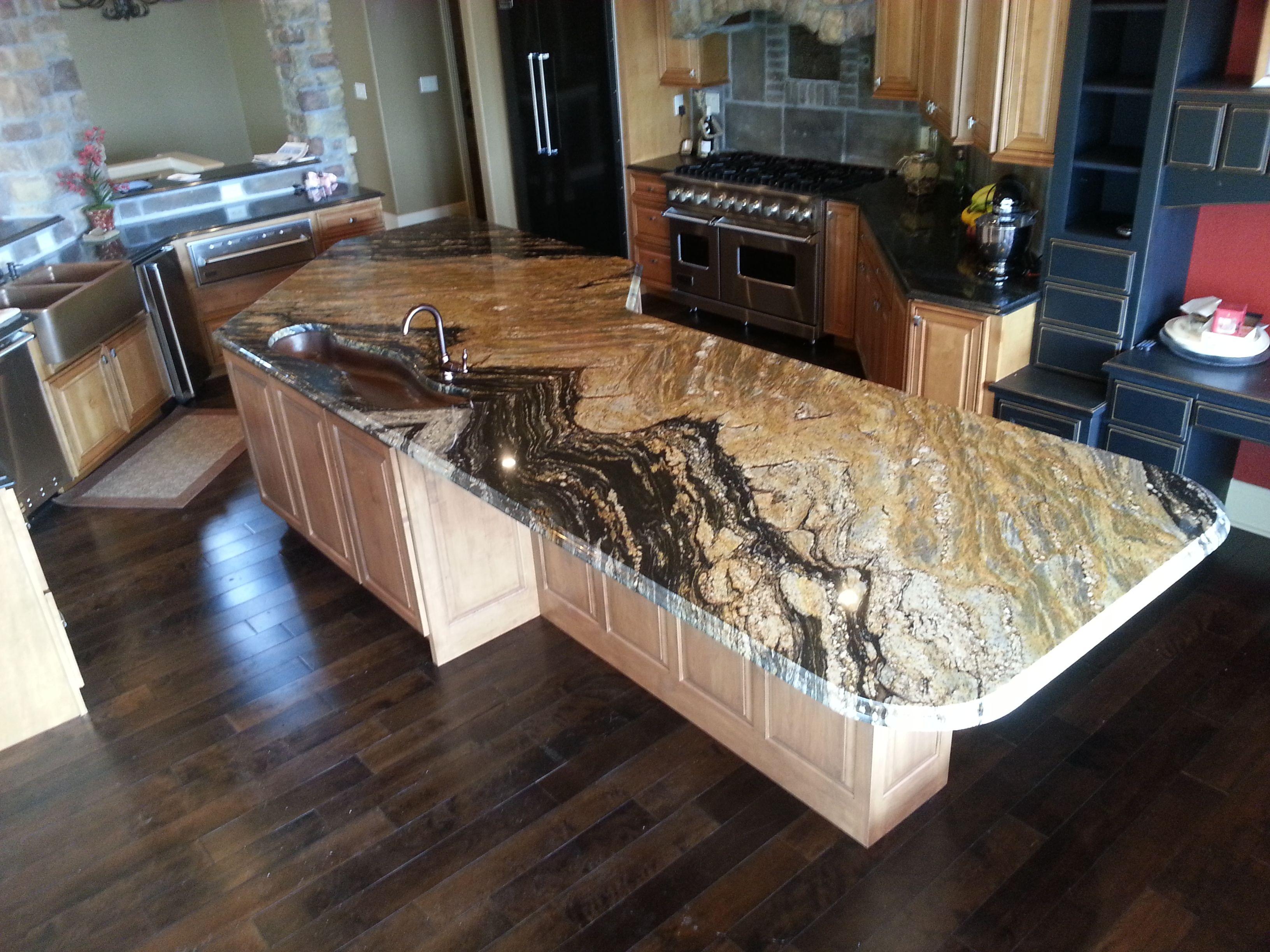 Supreme Gold Granite Granite Engineered Stone Kitchen
