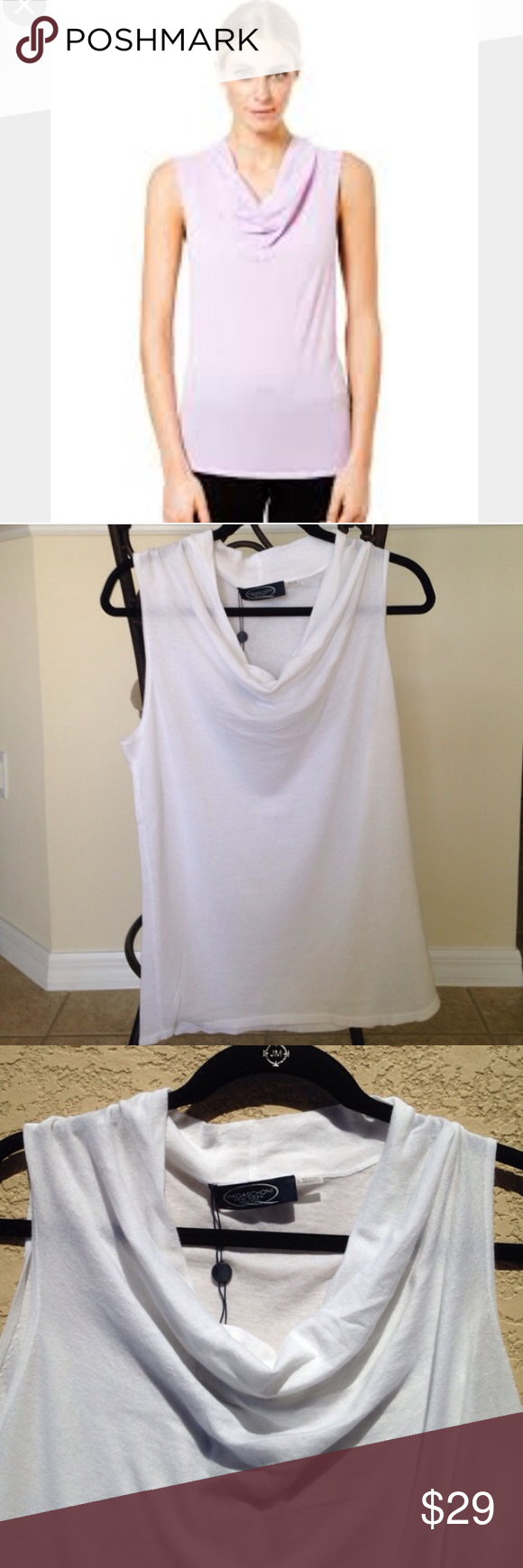 magaschoni cowl neck tank magaschoni cowl neck tank  this is lightweight  lightly sheer  100
