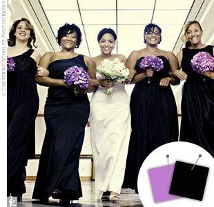 Purple Wedding Color Combos | Black wedding themes, Purple bouquets ...