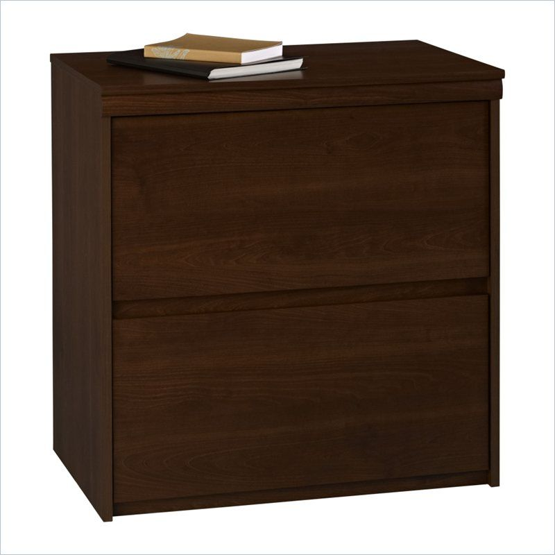 Ameriwood 2 Drawer Wood Lateral File Cabinet In Cherry   9502207P