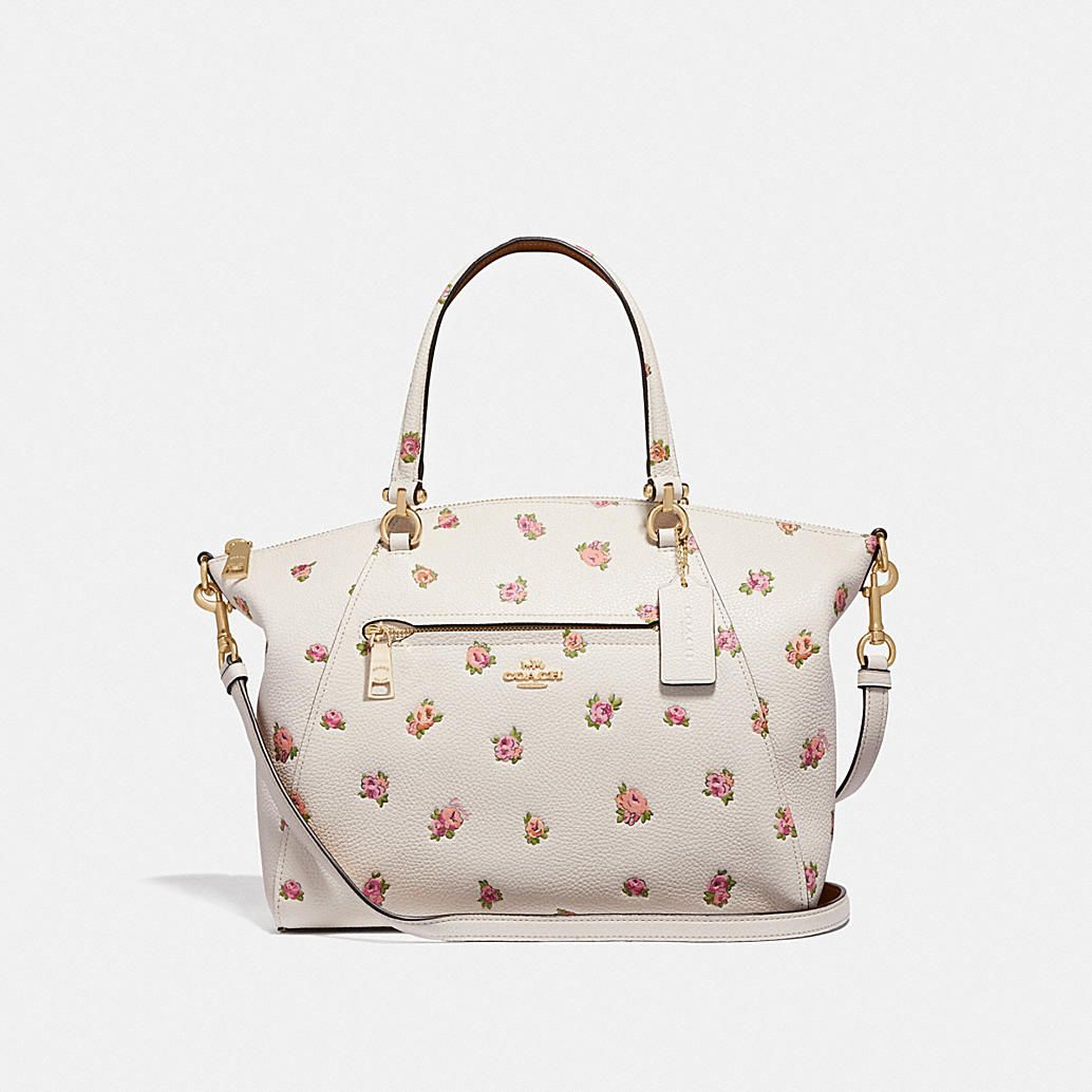 Coach Prairie Satchel With Floral Print Women S Handbags