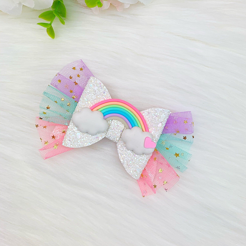 Rainbow Hair Baby headbands rainbow bow Glitter Rainbow Rainbow Hair bow Rainbow gifts Rainbow Hair Clip Rainbow headband