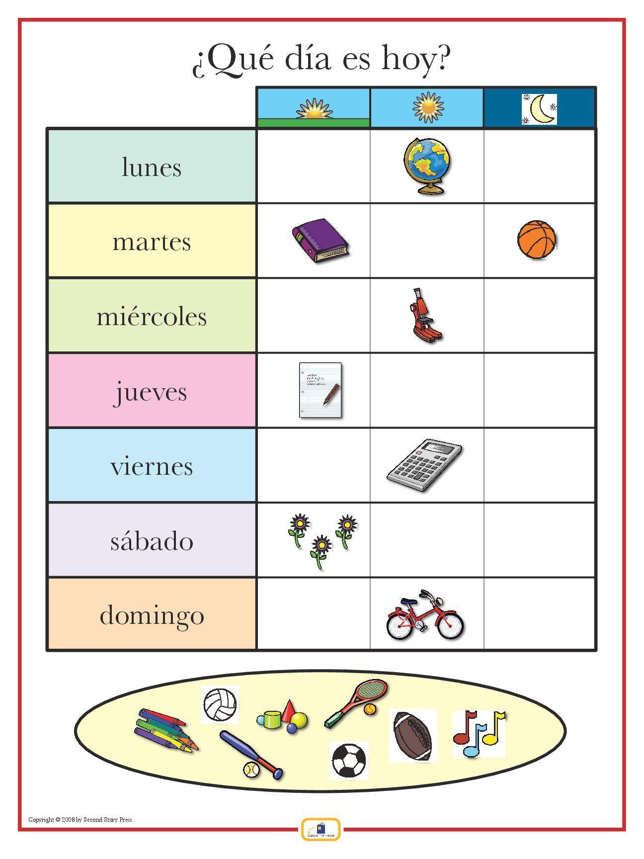 worksheet Spanish Days Of The Week Worksheet spanish days of the week poster worksheets and poster
