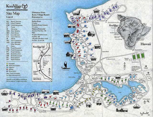 Ephemera Kona Village Site Map 1994 Hotel Design Pinterest