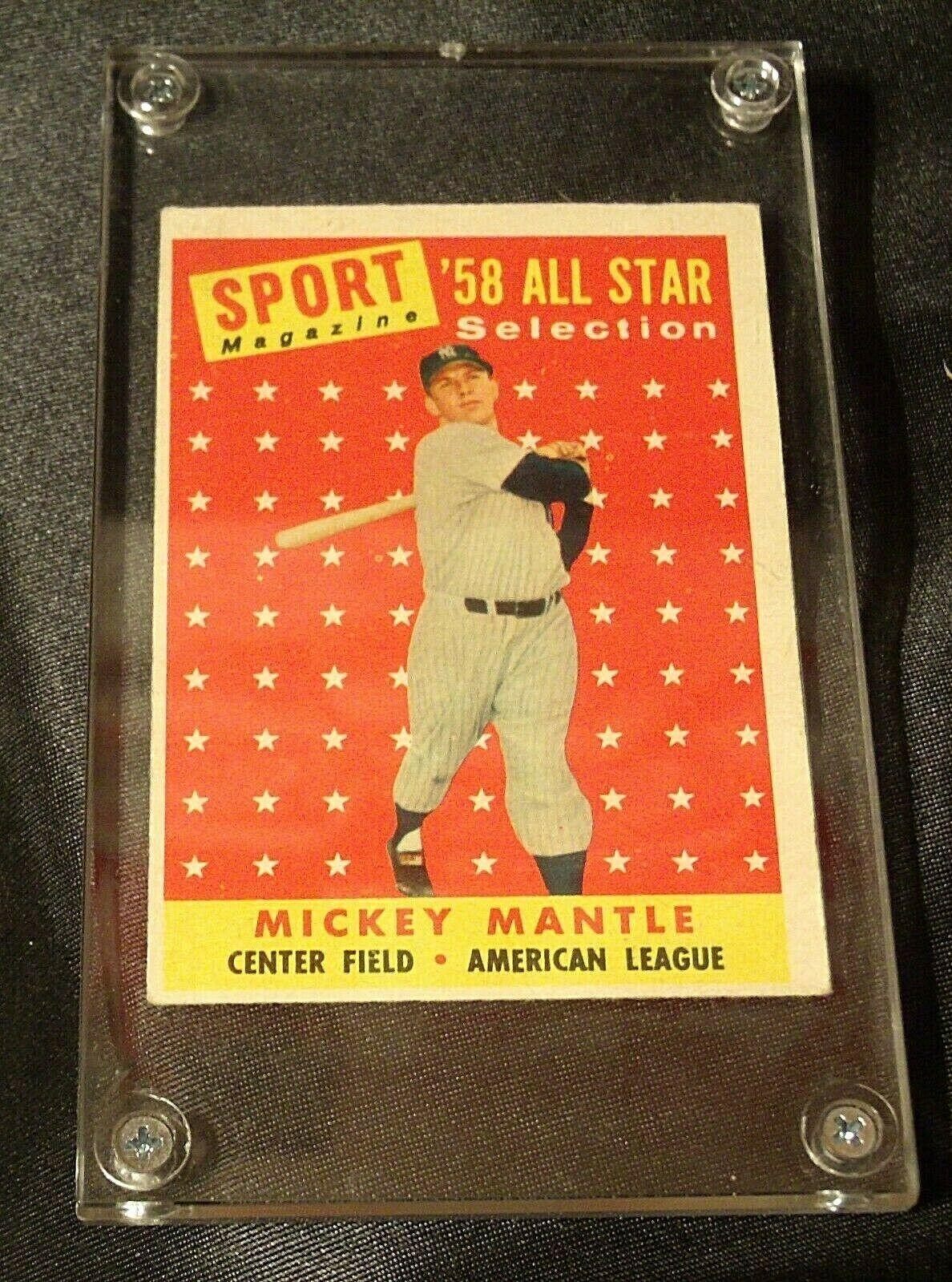 1958 Mickey Mantle Baseball Trading Card 487 AA 19