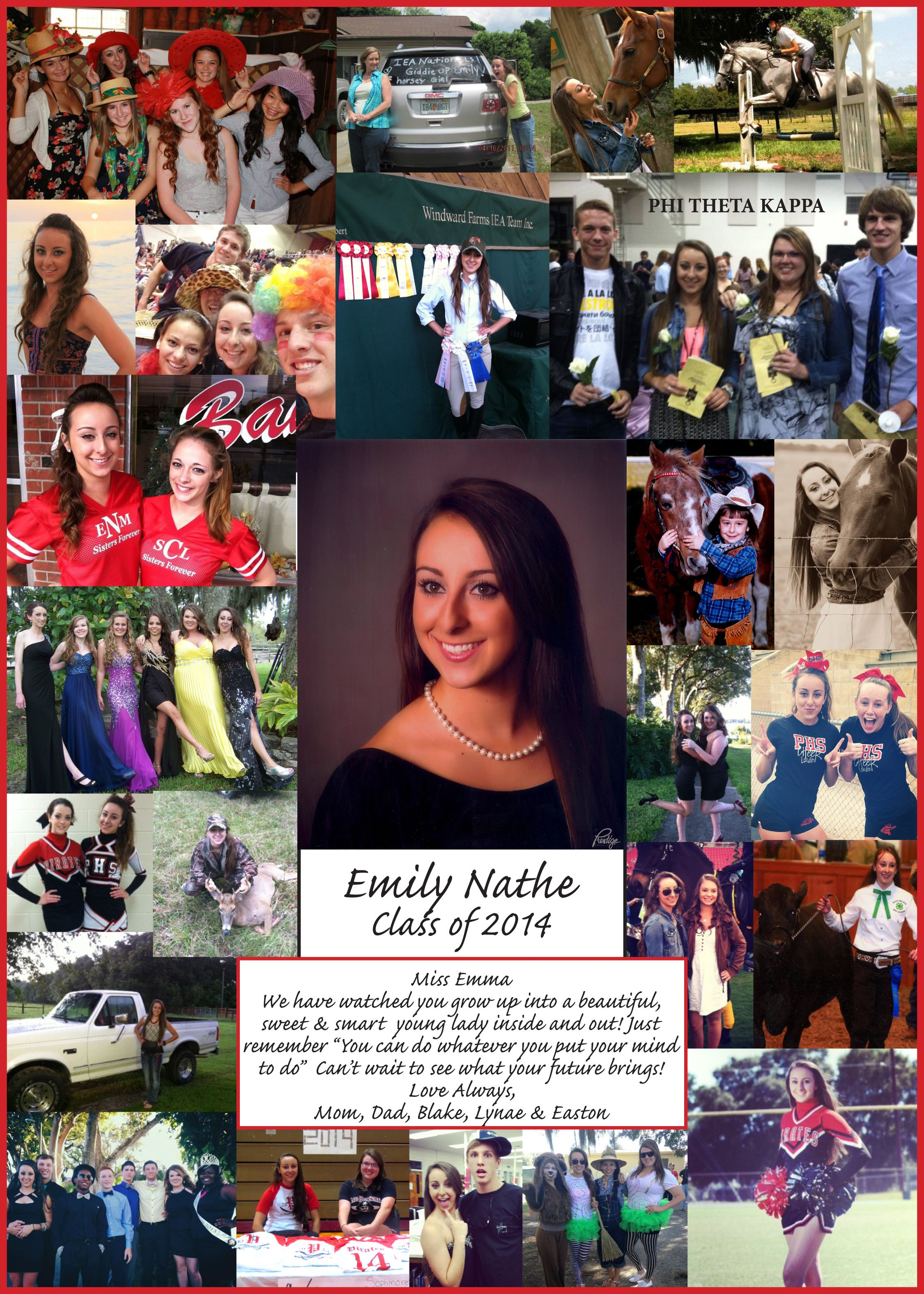 2014 Student created Senior Yearbook Ad for Pasco High School ...
